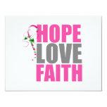 Hope Love Faith Christmas Candy Cane Invite