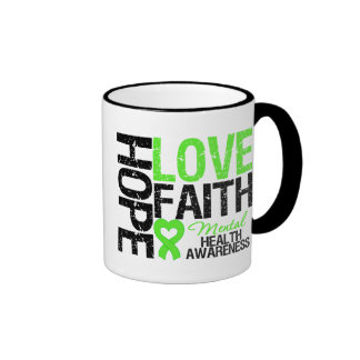 Hope Love Faith Mental Health Awareness Coffee Mug