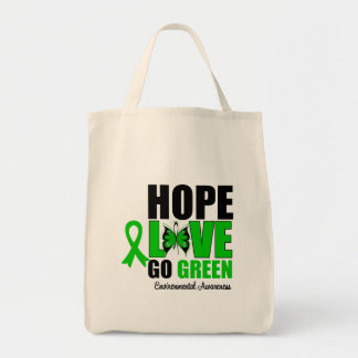 Hope Love Go Green Butterfly Bags