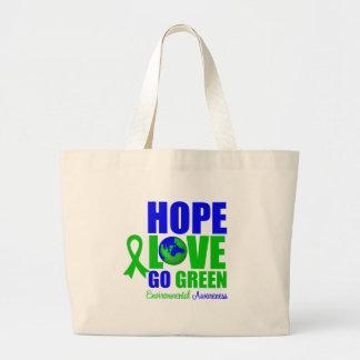 Hope Love Go Green Earth Tote Bag