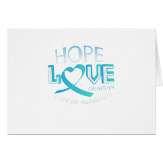 Hope Love Support Ovarian Cancer Awareness Card