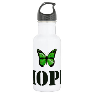 """'Hope"""" Lyme Disease Awareness Butterfly 532 Ml Water Bottle"""