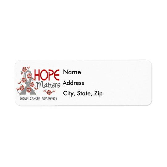 Hope Matters 3 Brain Cancer Return Address Label