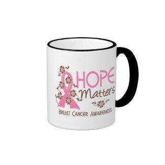 Hope Matters 3 Breast Cancer Ringer Mug