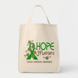 Hope Matters 3 Organ Donation Grocery Tote Bag