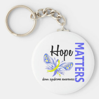 Hope Matters Butterfly Down Syndrome Basic Round Button Key Ring