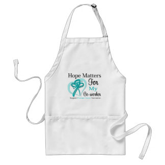 Hope Matters For My Co-worker - Ovarian Cancer Adult Apron