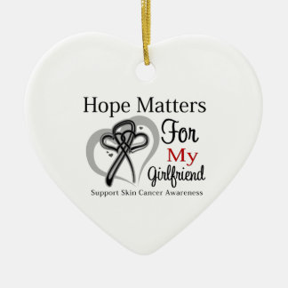 Hope Matters For My Girlfriend - Skin Cancer Christmas Tree Ornaments