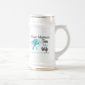 Hope Matters For My Wife - Ovarian Cancer Beer Steins