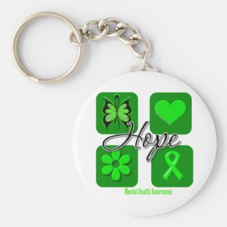 Hope - Mental Health Awareness Basic Round Button Key Ring