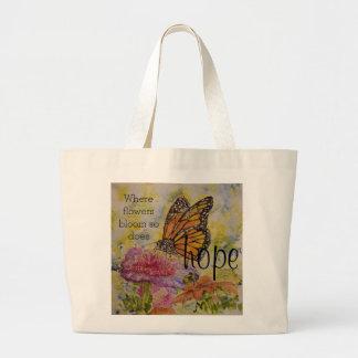 Hope Monarch Butterfly Art Jumbo Tote