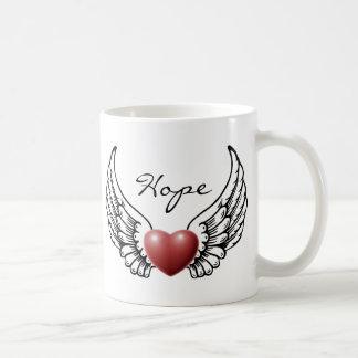 Hope on Angel Wings Mug