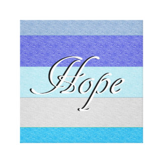 HOPE on Blue Canvas Print