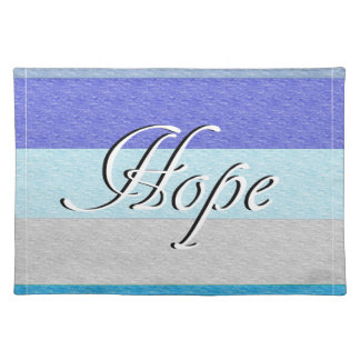 HOPE on Blue Placemat