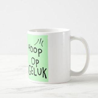 Hope on luck basic white mug