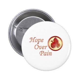 Hope Over Pain Phoenix Button