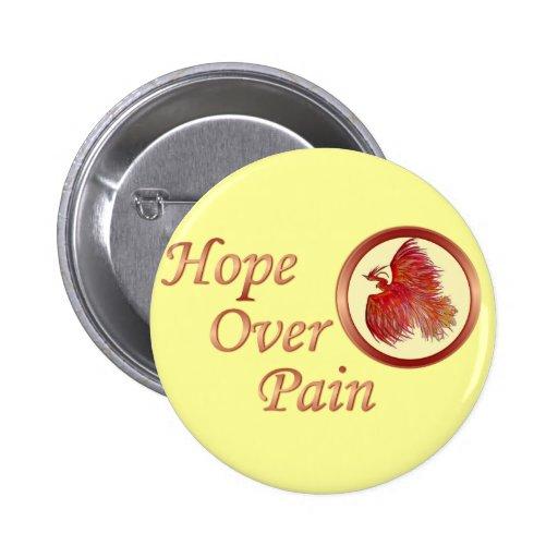 Hope Over Pain Phoenix Logo Button