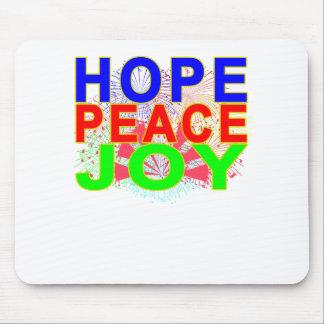 Hope Peace Joy T-Shirt . Mouse Pad