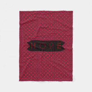 Hope - Pink & Black Celtic Design Fleece Blanket