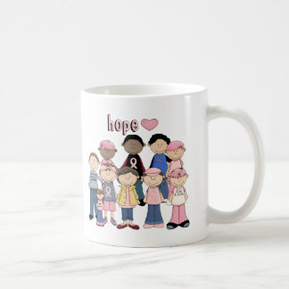 Hope Pink Ribbon Basic White Mug