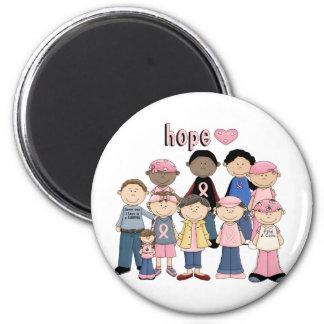 Hope Pink Ribbon 6 Cm Round Magnet