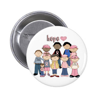 Hope Pink Ribbon Pinback Button