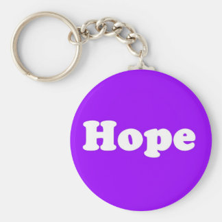 Hope Positive Thinking Purple Key Chain