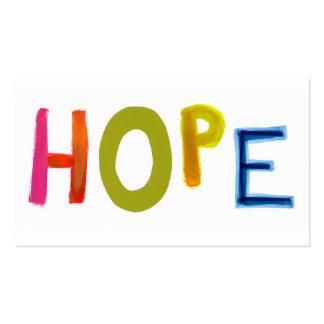 Hope powerful word art colorful fun hopeful unique business card