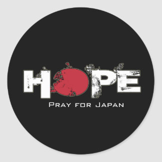 HOPE - Pray for Japan Stickers