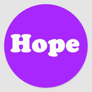 Hope Purple Inpirational Sticker