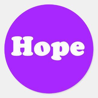 Hope Purple Inpirational Sticker