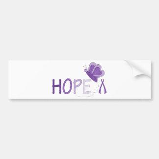 Hope Purple Ribbon Awareness Bumper Stickers