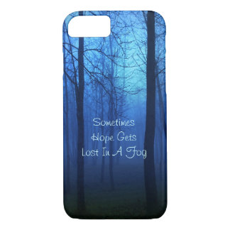 Hope quote life forest fog background iPhone 7 case