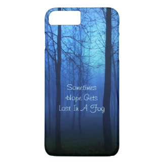 Hope quote life forest fog background iPhone 7 plus case