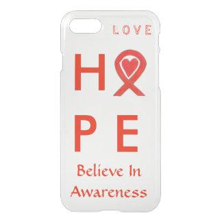 Hope Red Awareness Ribbon iPhone 7 Case