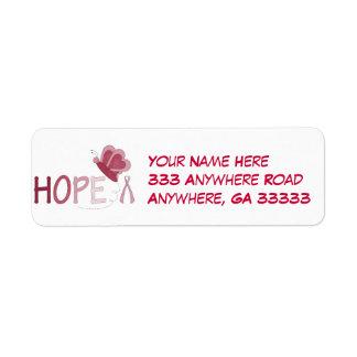 Hope return address labels
