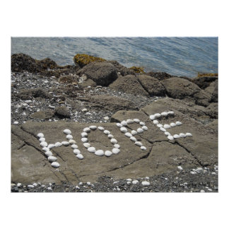 Hope - Seashell Art on the Beach Poster