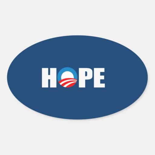HOPE OVAL STICKER