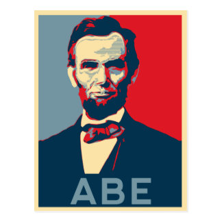 Hope Style Lincoln Portrait Postcard