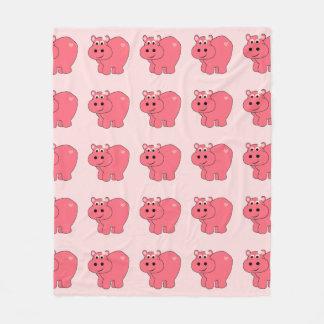 Hope the Hippo - Kids Fleece Blanket