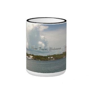 Hope Town, Bahamas Ringer Mug