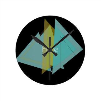 Hope Triangles Round Clock
