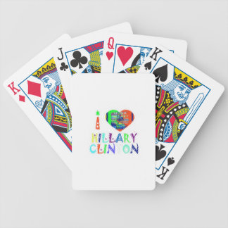 Hope Vote Blue  Lovely Reflection Amazing Hillary Bicycle Playing Cards