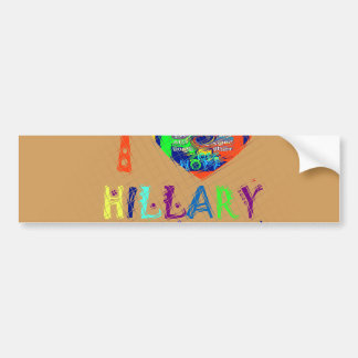 Hope Vote Blue  Lovely Reflection Amazing Hillary Bumper Sticker