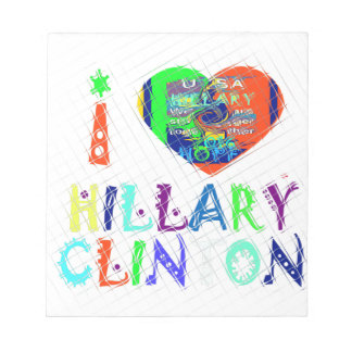 Hope Vote Blue  Lovely Reflection Amazing Hillary Notepad