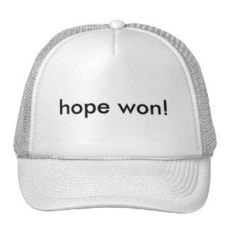 hope won! trucker hats