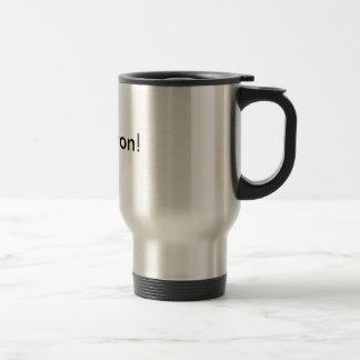 hope won! stainless steel travel mug