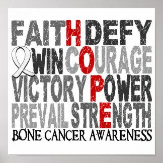 Hope Word Collage Bone Cancer Print