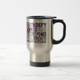 Hope Word Collage Epilepsy Mugs