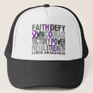 Hope Word Collage Lupus Trucker Hat
